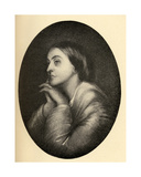 Christina Georgina Rossetti (1830-94) Illustration from 'Little Journeys to the Homes of Famous… Giclee Print by Dante Gabriel Rossetti