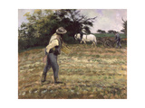 The Sower, Montfoucault, 1875 Giclee Print by Camille Pissarro