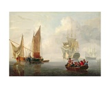 Becalmed Off a Dutch Coastline Giclee Print by Charles Martin Powell