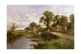 On the Thames Near Marlow Giclee Print by Henry Parker