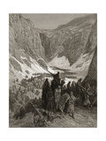 The Christian Army in the Mountains of Judea, Illustration from 'Bibliotheque Des Croisades' by… Lámina giclée por Gustave Doré