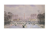 Skating in the Tuileries, C.1865 Giclee Print by Theodore Jung