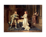 Lord Buckingham (1592-1628) and Queen Anne of Austria (1601-66), C.1886 Giclee Print by Wladyslaw Bakalowicz