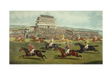 The Liverpool Grand National Steeplechase - Coming In, Published 1872 Giclee Print by  Charles Hunt and Son