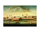Foreign Factories at Canton, 1804 Giclee Print by Michele Felice Corne