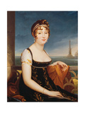 Portrait of Caroline Bonaparte (1782-1839) Queen of Naples Giclee Print by Robert Lefevre