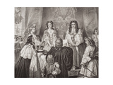 The Crown Offered to William and Mary by the Lords and Commons at Whitehall, February 12, 1689,… Giclee Print by Edgar Melville Ward