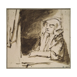 Woman at a Window Giclee Print by  Rembrandt van Rijn