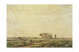 The First Furrows, Haute Alsace or the Labourer, 1883 Giclee Print by Jean Henri Zuber