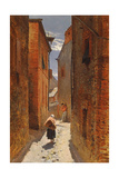 Street in the Old Town, 1873 Giclee Print by Alphonse Marie de Neuville