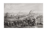 The Landing of Troops on Roanoke Island During the American Civil War, North Carolina 1862 Giclee Print by William Momberger