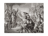 Charles I (1600-49) Erecting His Standard at Nottingham in the Opening Scene of the Great Civil… Giclee Print by Charles West Cope