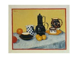 Still Life with Blue Enamel Coffeepot, Earthenware and Fruit, 1888 Giclee Print by Vincent van Gogh
