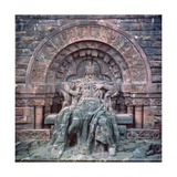 Monument to Emperor Barbarossa (C.1123-90) Kyffhaeuser Mountain, C.1890-96 Giclee Print by Nicolaus Geiger