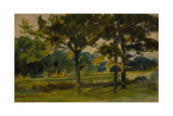 One of the 'Three Landscape Sketches' Giclee Print by Hubert von Herkomer