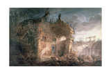 Sir John Soane's Rotunda of the Bank of England in Ruins Giclee Print by Joseph Michael Gandy