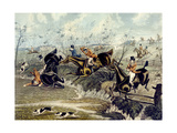The Grand Leicestershire Fox Hunt, Plate 3, Engraved by Charles Hunt Giclee Print by Samuel Henry Gordon Alken