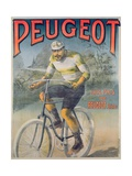 Poster Advertising the Cycles 'Peugeot' Giclee Print