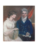 Portrait of Benjamin Thompson and His Wife, 1800 Giclee Print by John Raphael Smith