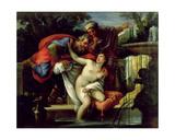 Susanna and the Elders Giclee Print by Giuseppe Bartolomeo Chiari
