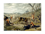 The Grand Leicestershire Fox Hunt, Plate 4, Engraved by Charles Hunt, 1839 Giclee Print by Samuel Henry Gordon Alken