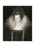 Queen Elizabeth I (1533-1603) from 'Gallery of Portraits', Published in 1833 Giclee Print