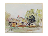 Cottage under Large Trees in Summer, C.1831 Giclee Print by Eugene Delacroix