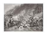 The Battle of La Hogue, Destruction of the French Fleet, May 22, 1692, from 'Illustrations of… Giclee Print by Benjamin West