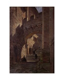 Mont Saint-Michel, Fortified Gate in the Abbey, 1881 Giclee Print by Emmanuel Lansyer