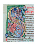 Historiated Initial 's', Psalm 57, St. Alban's Psalter, C.1123 Giclee Print by  The Alexis Master