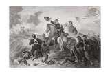 General Lyon's (1818-61) Charge at the Battle of Wilson's Creek, Missouri, 1861 Giclee Print by Felix Octavius Carr Darley