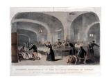 Florence Nightingale (1820-1910) in the Military Hospital at Scutari During the Crimean War, 1856 Giclee Print by Joseph-Austin Benwell