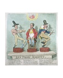 Les Trois Magots, Published by Hannah Humphrey in 1791 Giclee Print by James Gillray