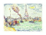 Passy, C.1898 Gicleetryck av Paul Signac