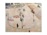 Traffic Island on Boulevard Haussmann, 1880 Giclee Print by Gustave Caillebotte