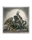 St. George and the Dragon, a Design for an Equestrian Statue, from the Original in Windsor… Giclee Print by Thomas Richmond Gale Braddyll