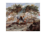 Chobham Camp, 1853 Giclee Print by Edward Matthew Ward