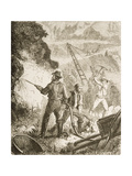 Silver Mining Operation, Nevada, C.1870, from 'American Pictures', Published by the Religious… Giclee Print