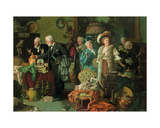 Connoisseurs in an Antique Shop Giclee Print by Louis Charles Moeller