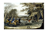 Royal Hunt in Windsor Park, Engraved by Matthew Dubourg (Fl.1813-20) 1829 Giclee Print by James Pollard