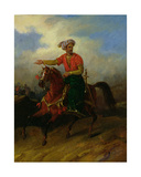An Ottoman on Horseback Giclee Print by Charles Bellier