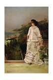 Woman on a Terrace, 1882 Giclee Print by Alfred Emile Stevens