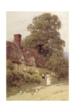 Old Post Office, Brook, Near Witley, Surrey Giclee Print by Helen Allingham