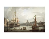 Dock Opening Ceremony, Bristol, 1828 Giclee Print by Robert Salmon