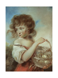 The Girl with a Basket of Eggs, C.1780 Giclee Print by John Russell