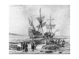Landing of the Mayflower on 11th December 1620 Giclee Print