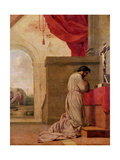 St. Bruno (1030-1101) Praying in His Chapel, from the Life of St. Bruno, 1645-48 Giclee Print by Eustache Le Sueur