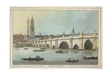 View of Old London Bridge, Engraved by J.C. Stadler (Fl.1780-1812), 1795 Giclee Print by Joseph Farington