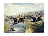The Grand Leicestershire Fox Hunt, Plate 2, Engraved by Charles Hunt, 1839 Giclee Print by Samuel Henry Gordon Alken