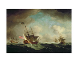 A Squadron Going to Windward, C.1750 Giclee Print by Charles Brooking